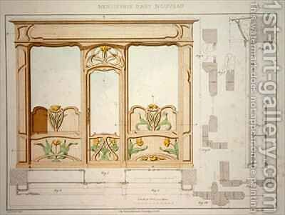 Design for a shop front by Daillecourt - Reproduction Oil Painting
