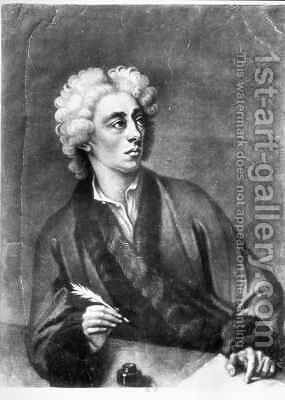 Portrait of Alexander Pope 1686-1744 by (after) Dahl, Michael - Reproduction Oil Painting
