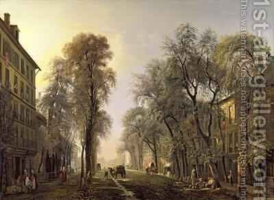 Boulevard Poissonniere in 1834 by Isidore Dagnan - Reproduction Oil Painting