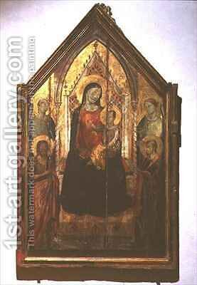 Madonna and Child enthroned with Saints by Bernardo Daddi - Reproduction Oil Painting