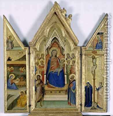 Triptych with Madonna and Child by Bernardo Daddi - Reproduction Oil Painting