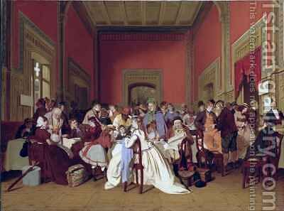 Second Class Waiting Room II by Carl d'Uncker - Reproduction Oil Painting