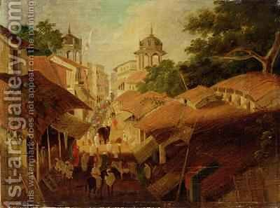 Street in Patna by Charles D'Oyly - Reproduction Oil Painting