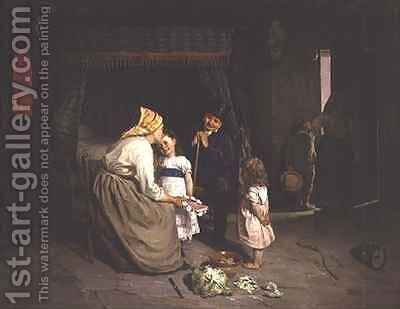 Before Going to Church by Charles Bertrand D'entraygues - Reproduction Oil Painting