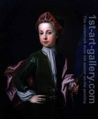 Portrait of a Young Boy of the Halsey Family by Charles d' Agar - Reproduction Oil Painting