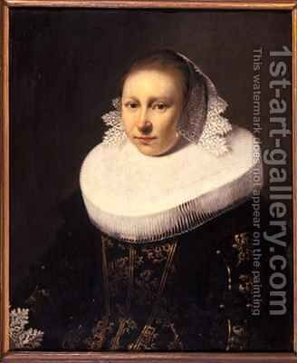 Portrait of a young woman by Jacob Gerritsz. Cuyp - Reproduction Oil Painting