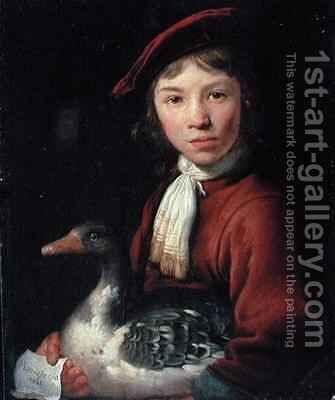 Boy with a Goose by Jacob Gerritsz. Cuyp - Reproduction Oil Painting