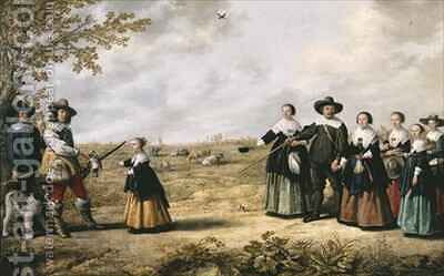 Portrait of Family in a Landscape by Jacob Gerritsz. Cuyp - Reproduction Oil Painting