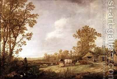 Farmyard Scene by Aelbert Cuyp - Reproduction Oil Painting