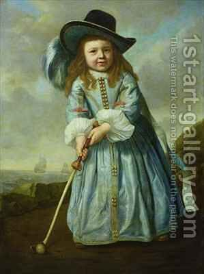 Child Playing Golf by Aelbert Cuyp - Reproduction Oil Painting