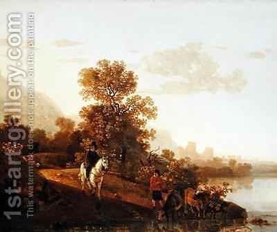 Landscape with Ubbergen Castle by Aelbert Cuyp - Reproduction Oil Painting