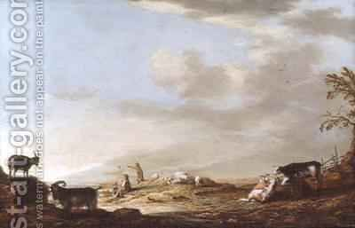 Landscape with Cattle and Figures by Aelbert Cuyp - Reproduction Oil Painting