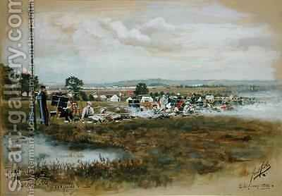 The Albert  Second Stage 1000 yards Bisley Camp by Cecil Cutler - Reproduction Oil Painting
