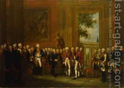 Reception for the Duke of York in Sanssouci by Edward Francis (Francesco Calza) Cunningham - Reproduction Oil Painting