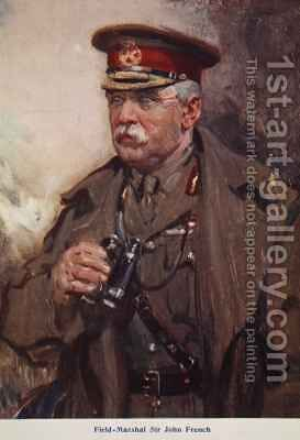 Field Marshal Sir John French by Cyrus Cuneo - Reproduction Oil Painting
