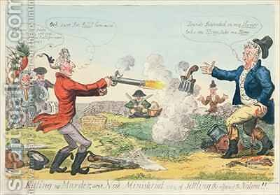 Killing no Murder or a New Ministerial way of settling the affairs of the Nation by Isaac Robert Cruikshank - Reproduction Oil Painting