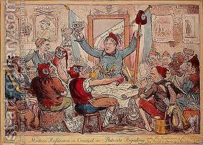 Modern Reformers in Council  or  Patriots Regaling by Isaac Robert Cruikshank - Reproduction Oil Painting