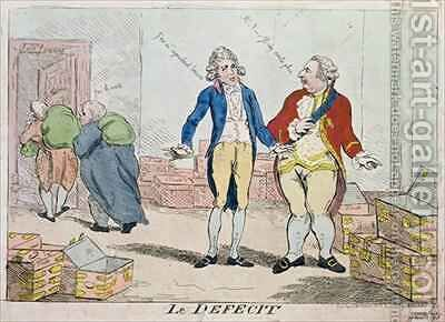Le Deficit by Isaac Cruikshank - Reproduction Oil Painting
