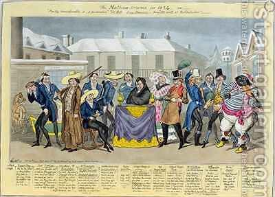 The Mathew Orama for 1824 by I. Robert and George Cruikshank - Reproduction Oil Painting