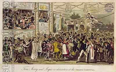 Tom Jerry and Logic in Characters at the Grand Carnival 2 by I. Robert and George Cruikshank - Reproduction Oil Painting