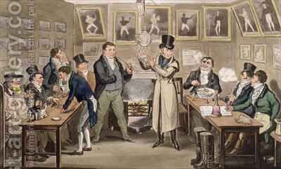 Cribbs Parlour Tom introducing Jerry and Logic to the Champion of England by I. Robert and George Cruikshank - Reproduction Oil Painting