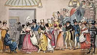 Tom and Jerry in the Saloon at Covent Garden by I. Robert and George Cruikshank - Reproduction Oil Painting