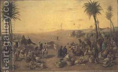 Arab Market by J. Cruciani - Reproduction Oil Painting