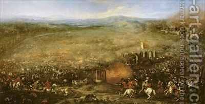 The Battle of Lutzen in 1632 by Jacques (Le Bourguignon) Courtois - Reproduction Oil Painting