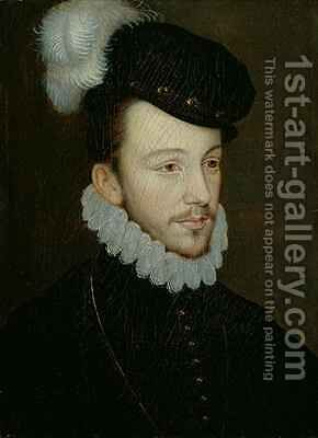 Portrait of Henri III King of France before his accession by (after) Court, Jean de - Reproduction Oil Painting