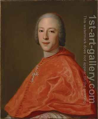 Portrait of Prince Henry Cardinal York by Domenico Corvi - Reproduction Oil Painting