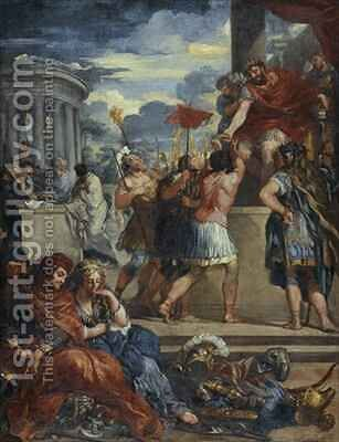 The Age of Bronze by (after) Cortona, Pietro da (Berrettini) - Reproduction Oil Painting