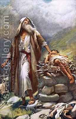 Abraham and Isaac by Harold Copping - Reproduction Oil Painting