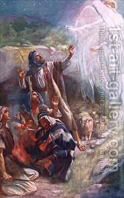 The shepherds of Bethlehem by Harold Copping - Reproduction Oil Painting