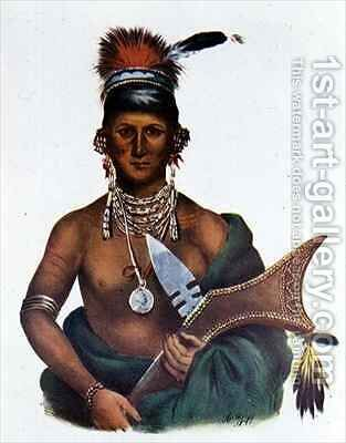 Appanoose a Sauk Chief by (after) Cooke, George - Reproduction Oil Painting