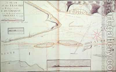A Plan of the Traverse or Passage from Cape Torment into the South Channel of Orleans by James Cook - Reproduction Oil Painting