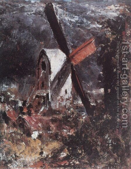 Mill near Brighton by (after) Constable, John - Reproduction Oil Painting