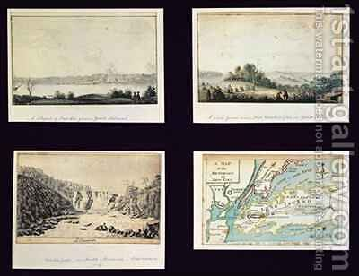 North American Scenes and a map of New York by Conleton - Reproduction Oil Painting