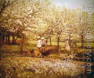 The Orchard by Charles Edward Conder - Reproduction Oil Painting
