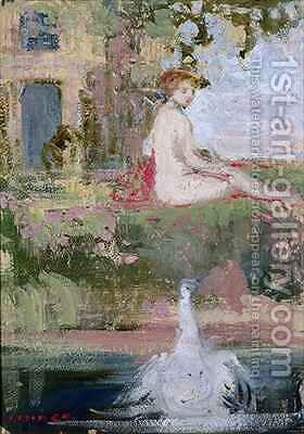 Leda and the Swan by Charles Edward Conder - Reproduction Oil Painting