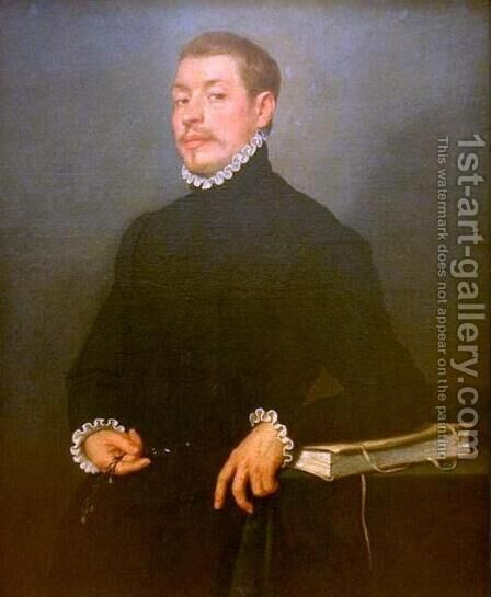 Portrait of a Scholar by Giovanni Battista Moroni - Reproduction Oil Painting