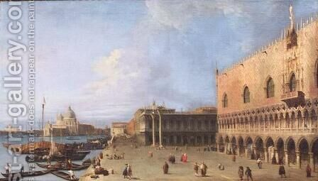 The Molo of the Doges Palace by (Giovanni Antonio Canal) Canaletto - Reproduction Oil Painting