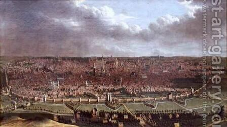 View of Brussels by Jan Baptist Bonnecroy - Reproduction Oil Painting
