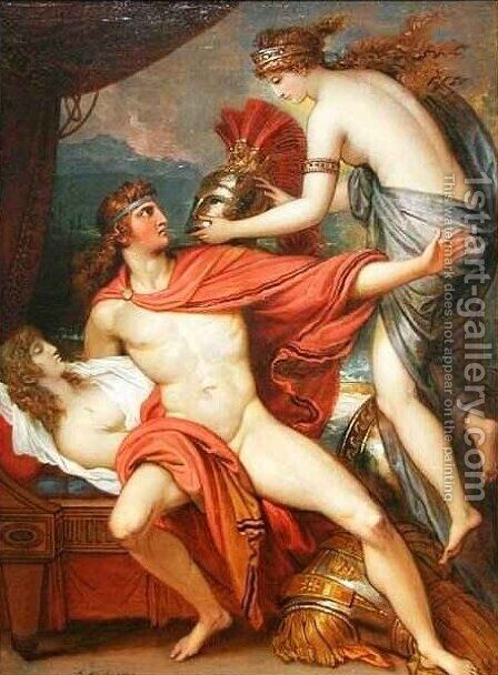 Thetis bringing the Armor to Achilles 3 by Benjamin West - Reproduction Oil Painting