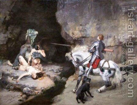 St George and the Monster by Gustave Surand - Reproduction Oil Painting