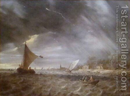 The Thunderstorm by Jan van Goyen - Reproduction Oil Painting