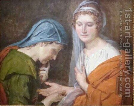 The Fortune Teller by Jacques Louis David - Reproduction Oil Painting