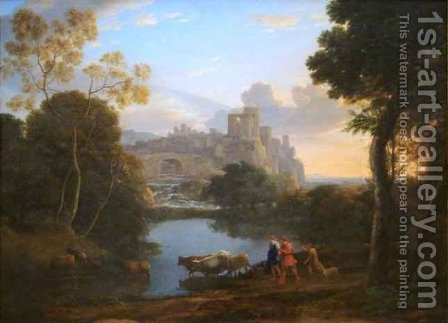 View of Tivoli at Sunset by Claude Lorrain (Gellee) - Reproduction Oil Painting