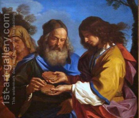 Samson and the Honeycomb by Giovanni Francesco Guercino (BARBIERI) - Reproduction Oil Painting