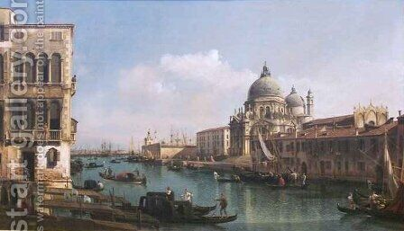 View of the Grand Canal and the Dogana by Bernardo Bellotto (Canaletto) - Reproduction Oil Painting