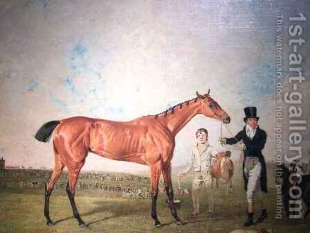 Shoveller Held by Her Trainer Will Chifney detail by Benjamin Marshall - Reproduction Oil Painting